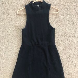 FREE PEOPLE dark navy high neck dress size small
